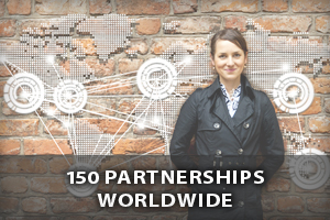 150 partnerships worldwide