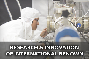 Research & innovation of international renown